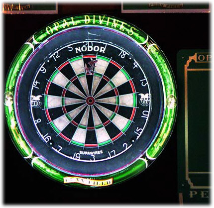 how to put dart board up