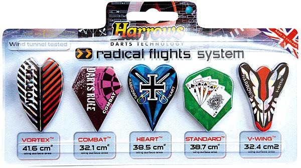 6 Sets HARROWS VORTEX Darts flights-aerodynamic shaped Flights